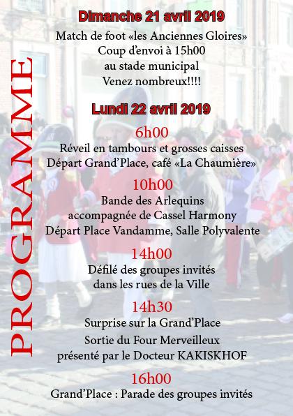 Programme Pâques 2019